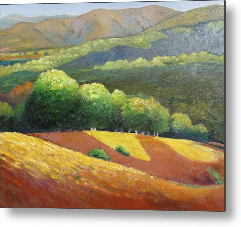 Ca Hills Metal Print featuring the painting Last Kiss Of Sunshine by Gary Coleman