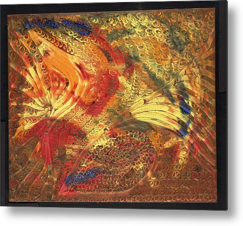 Abstract Metal Print featuring the painting Le Panache by Dominique Boutaud