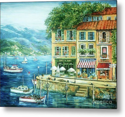 Europe Metal Print featuring the painting Le Port by Marilyn Dunlap
