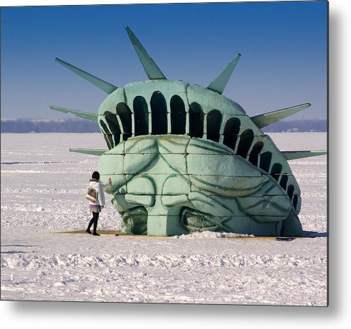 Statue Of Liberty Metal Print featuring the photograph Liberty by Linda Mishler