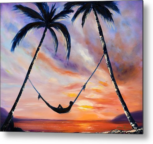 Sunset Metal Print featuring the painting Living The Dream by Gina De Gorna