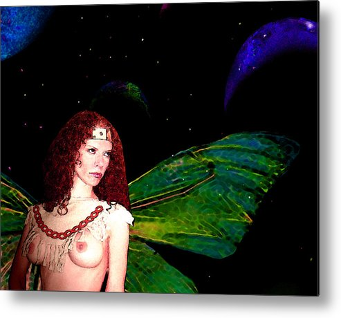 Fairy Metal Print featuring the painting Looking Away by Tray Mead