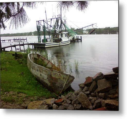 Boat Metal Print featuring the photograph Lost Boat by Patricia Caldwell