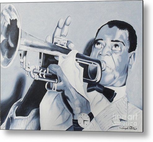 Idols Metal Print featuring the painting Louis Armstrong by Joseph Palotas
