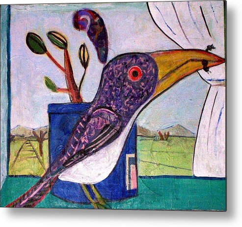 Bird Metal Print featuring the mixed media Lunch by Dave Kwinter