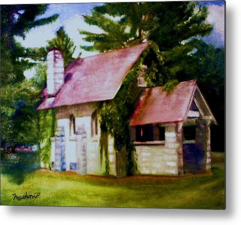 Church Metal Print featuring the painting Lyons Falls Church by Sheila Mashaw