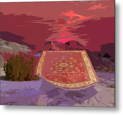 Metal Print featuring the digital art Magic Carpet Ride by Melody Crighton
