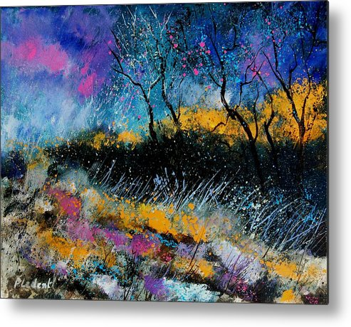 Landscape Metal Print featuring the painting Magic Morning Light by Pol Ledent