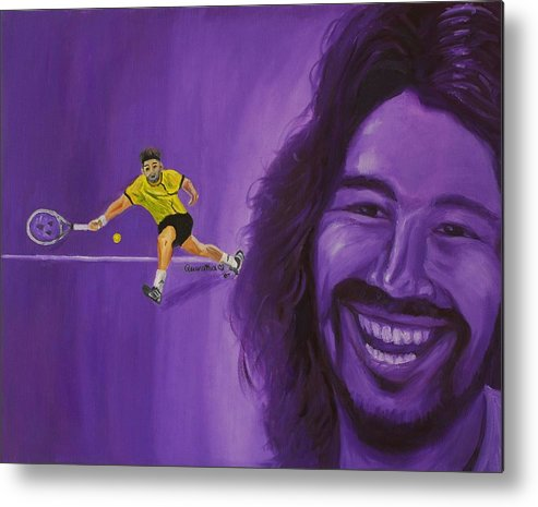 Marcos Metal Print featuring the painting Marcos Baghdatis by Quwatha Valentine