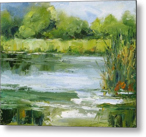 Plein Air Landscape Metal Print featuring the painting Marsh Inlet by Barrett Edwards