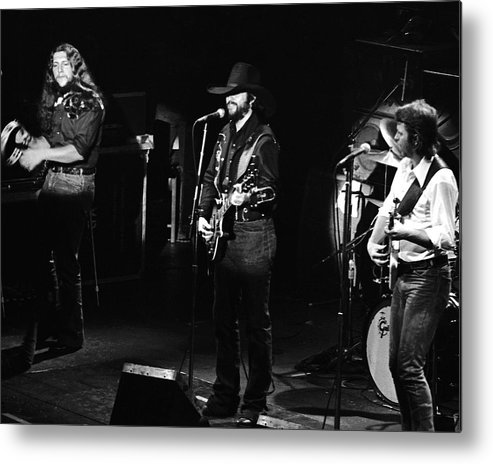 Marshall Tucker Band Metal Print featuring the photograph Marshall Tucker Band At Winterland 2 by Ben Upham