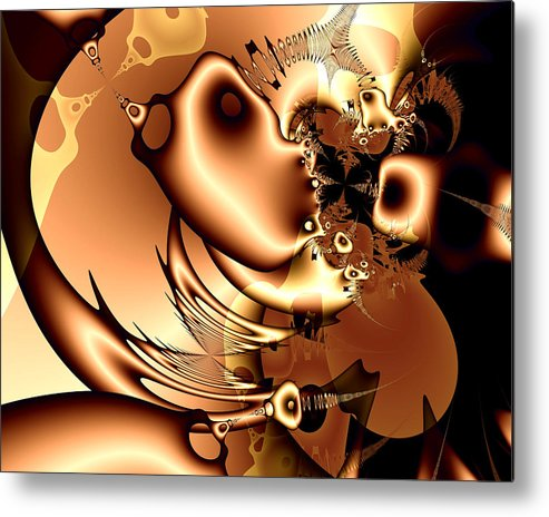 Digital Metal Print featuring the digital art Maybe Someone Saw Where Went Miro. by Tautvydas Davainis