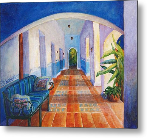 Interior Metal Print featuring the painting Merida Morning by Candy Mayer