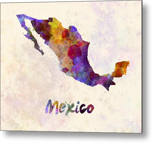 Mexico Metal Print featuring the painting Mexico In Watercolor by Pablo Romero