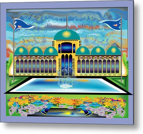 Architecture Metal Print featuring the digital art Mi Casa by George Pasini