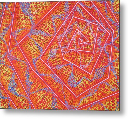 Dots Metal Print featuring the painting Microcosm Vii by Rollin Kocsis