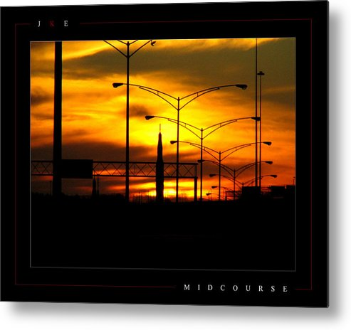Rocket Metal Print featuring the photograph Midcourse by Jonathan Ellis Keys