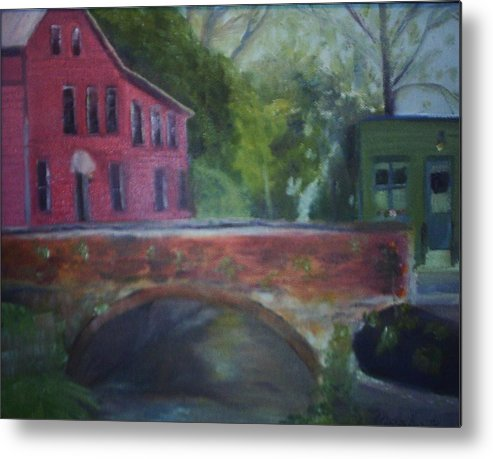 Mill Street Metal Print featuring the painting Mill Street Plein Aire by Sheila Mashaw