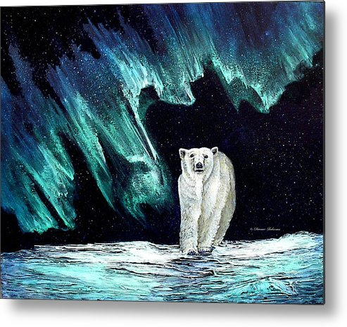 Bear Metal Print featuring the painting Monarch Of His Arctic Domain by Dianne Roberson