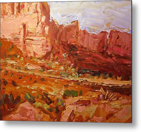 Southwest Art Metal Print featuring the painting Monument Valley Iv by Brian Simons