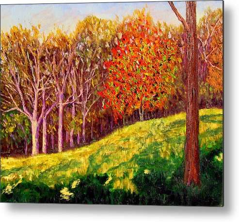Autumn Metal Print featuring the painting Mooresville October by Stan Hamilton