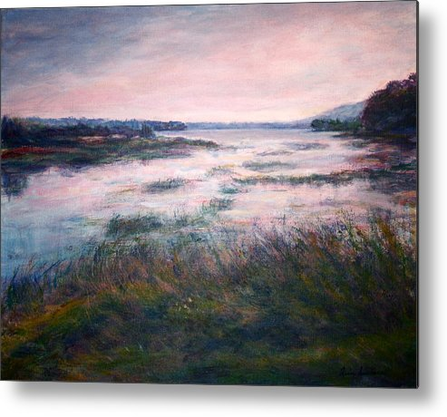 Water Metal Print featuring the painting Morning Glow by Quin Sweetman