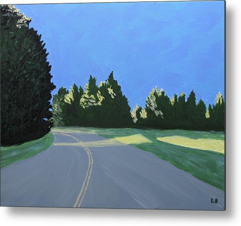 Landscape Metal Print featuring the painting Morning Light Uma by Laurie Breton