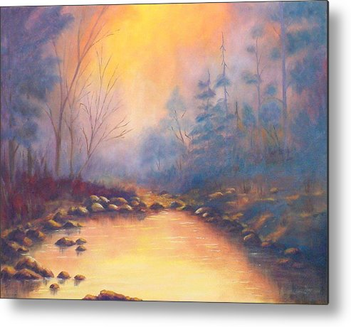 Sunrise Metal Print featuring the painting Morning Mist by Merle Blair