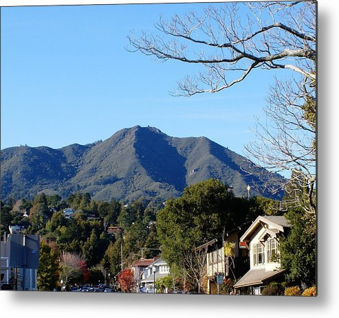 Mount Tamalpais Metal Print featuring the photograph Mt Tamalpais View From Mill Valley by Ben Upham III