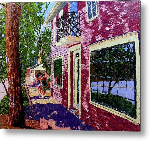 Pallet Knife Metal Print featuring the painting Nashville Upside Down by Stan Hamilton