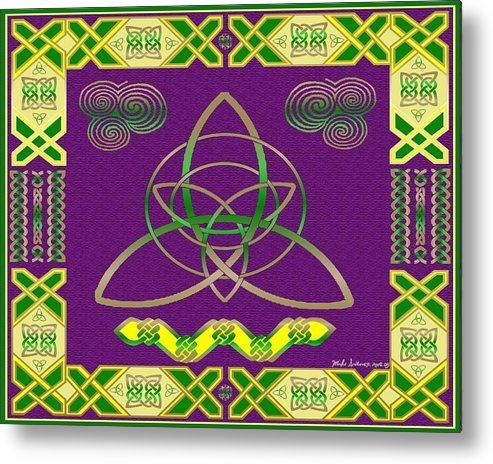 Celtic Knot Metal Print featuring the painting Natural Knot by Mike Sexton