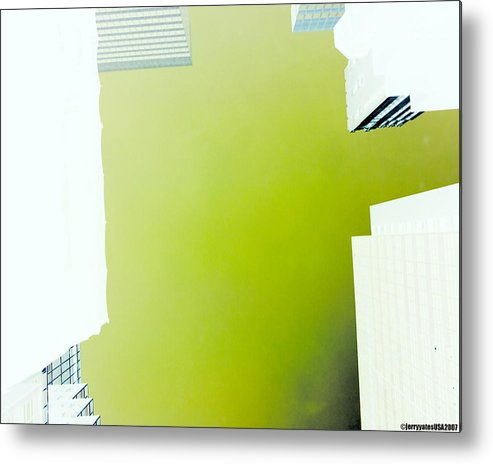 New York City Metal Print featuring the photograph New York City Negative by Gerard Yates