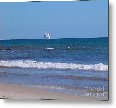 Seascape Metal Print featuring the photograph Nice Day For A Sail by Susan Strickland