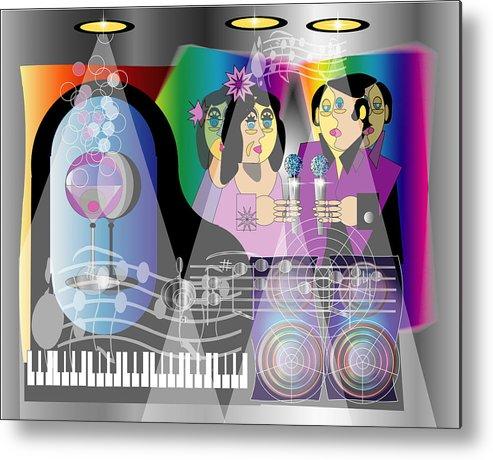 Jazz Metal Print featuring the digital art Nightclubbin by George Pasini