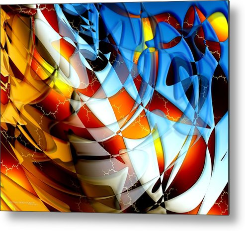 Abstract Metal Print featuring the painting Notions by Dreamlight Creations