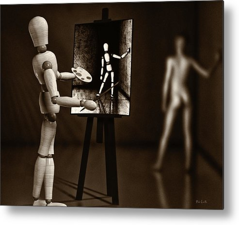 Naked Metal Print featuring the photograph Nude Model by Bob Orsillo