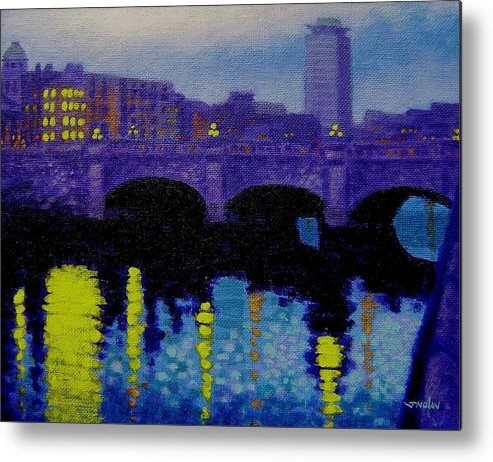 Ireland Metal Print featuring the painting O Connell Bridge - Dublin by John Nolan