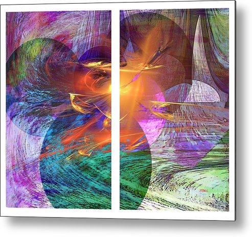 Ocean Fire Metal Print featuring the digital art Ocean Fire by John Beck
