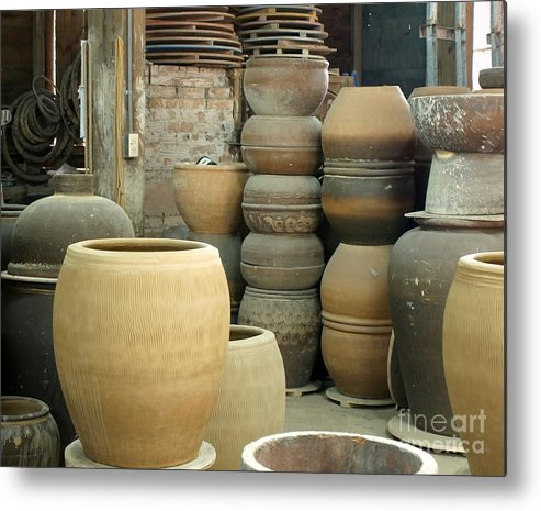 Workshop Metal Print featuring the photograph Old Pottery Workshop by Yali Shi