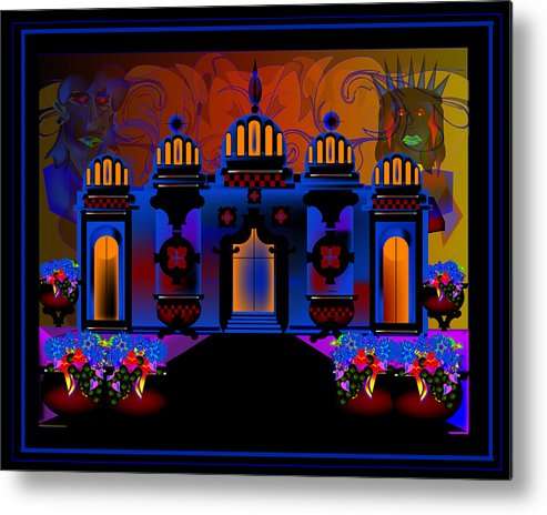 Architecture Metal Print featuring the digital art Old Sarasota by George Pasini