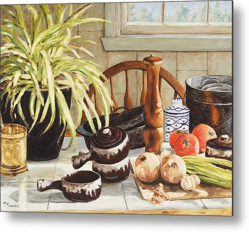 Onion Metal Print featuring the painting Onion Soup Tonight by Richard T Pranke