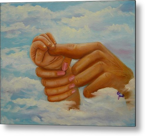 Family Metal Print featuring the painting Our Hands by Joni McPherson