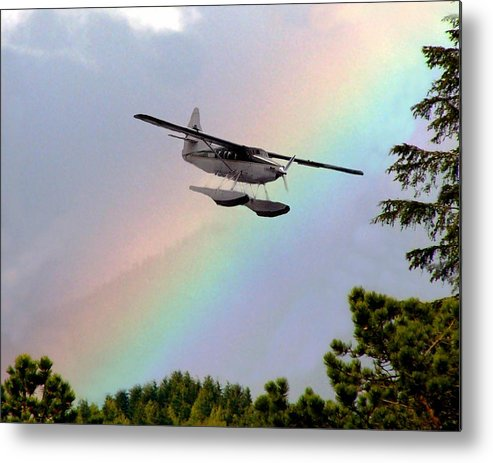 Rainbow Metal Print featuring the digital art Over The Rainbow by Kenna Westerman