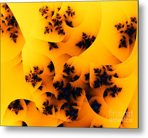 Fractal Art Metal Print featuring the digital art Ovule by Ron Bissett