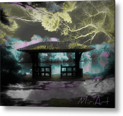 Pagoda Metal Print featuring the photograph Pagoda by Miriam Shaw