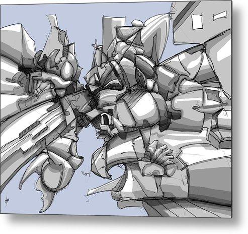 Digital Art Metal Print featuring the digital art Painting 156 by Jacob Hokanson