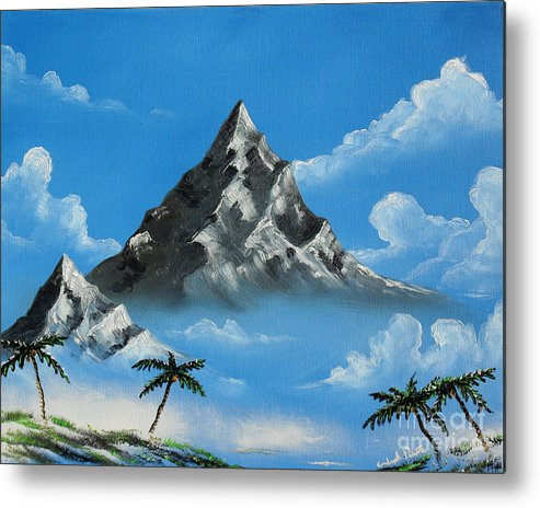 Landscape Metal Print featuring the painting Paradise Lost by Joseph Palotas