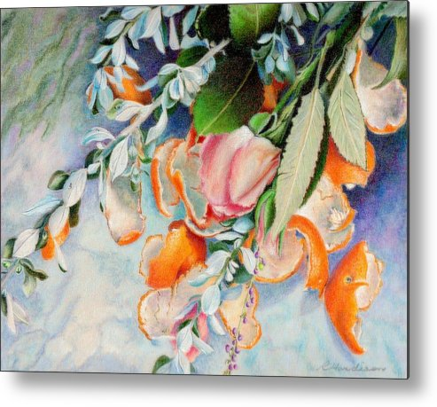 Flowers Metal Print featuring the painting Petals And Peels by Robynne Hardison