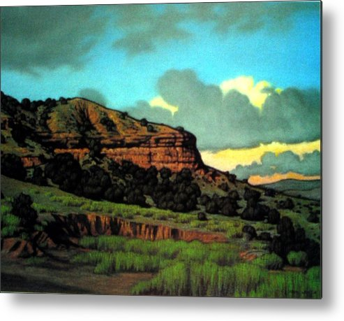 Landscape Metal Print featuring the painting Pojoaque by Kevin Lawrence Leveque