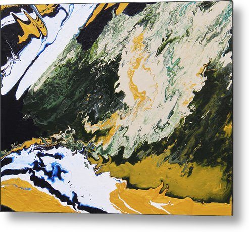 Fusionart Metal Print featuring the painting Primeval by Ralph White